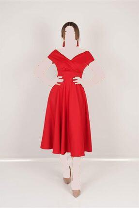 خرید نقدی لباس مجلسی زنانه  برند giyimmasalı رنگ قرمز ty94035170