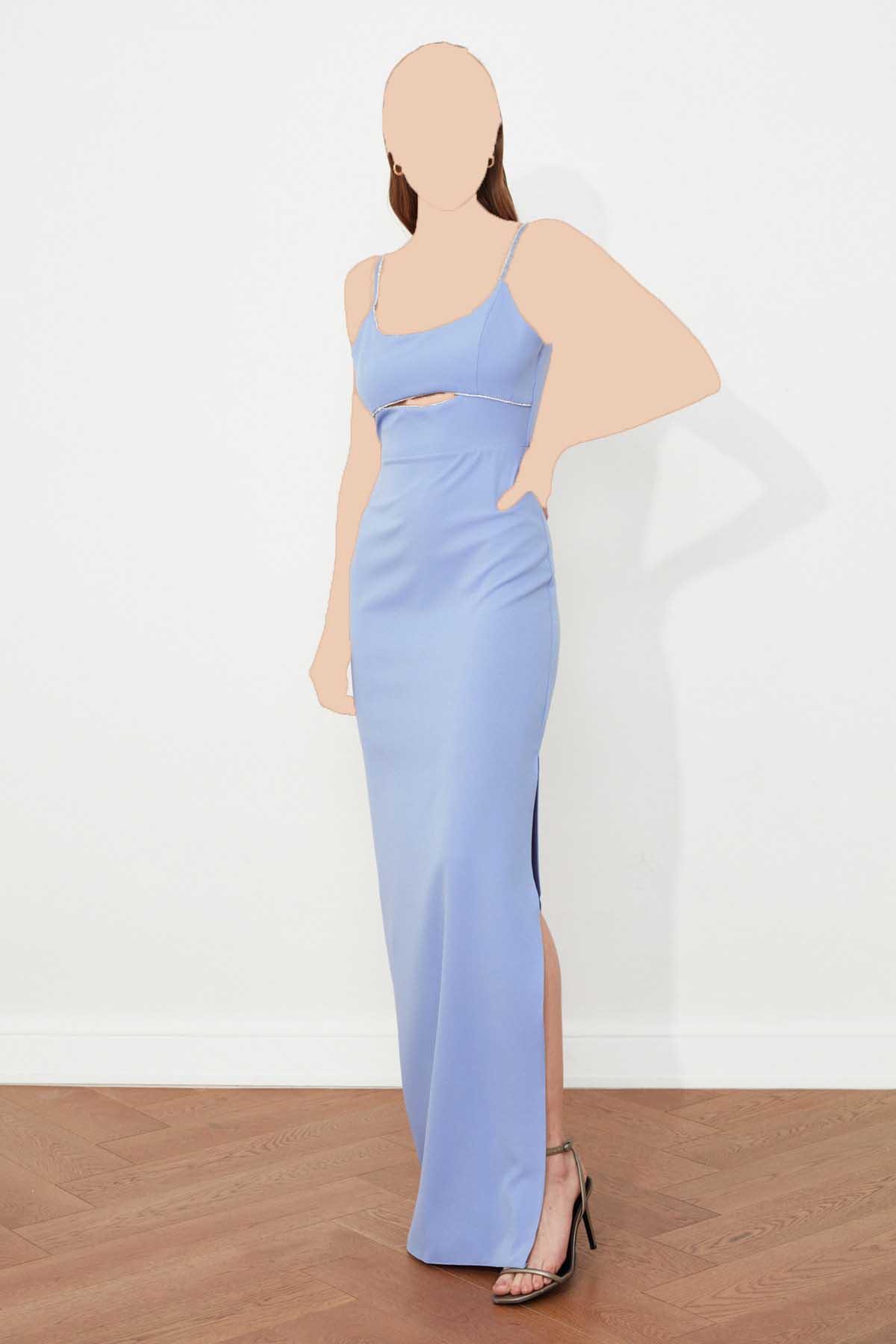 لباس مجلسی اورجینال برند TRENDYOLMİLLA رنگ آبی کد ty94207673