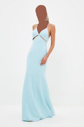 لباس مجلسی زنانه ارزان برند ترندیول میلا رنگ آبی کد ty97900153