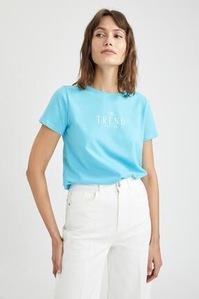 فروشگاه تیشرت زنانه سال ۹۹ مارک دفاکتو رنگ فیروزه ای ty109921809