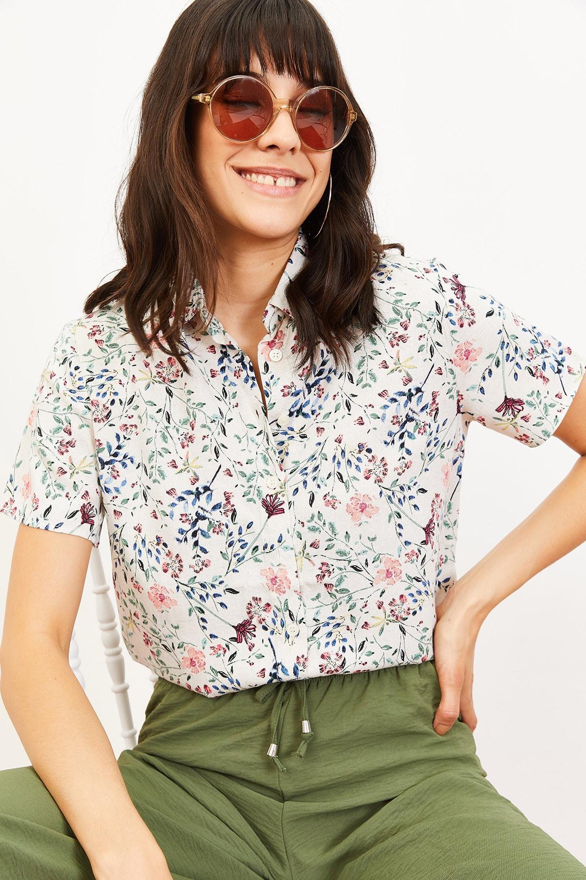 ژورنال شومیز زنانه برند Bianco Lucci رنگ صورتی ty39960927