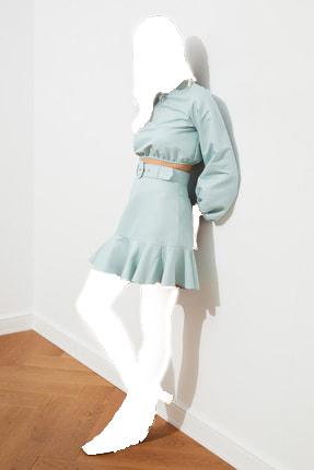 مدل دامن زنانه برند TRENDYOLMİLLA رنگ آبی کد ty85846722