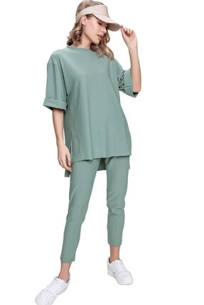 تونیک زنانه شیک برند butikburuç رنگ سبز کد ty103746895