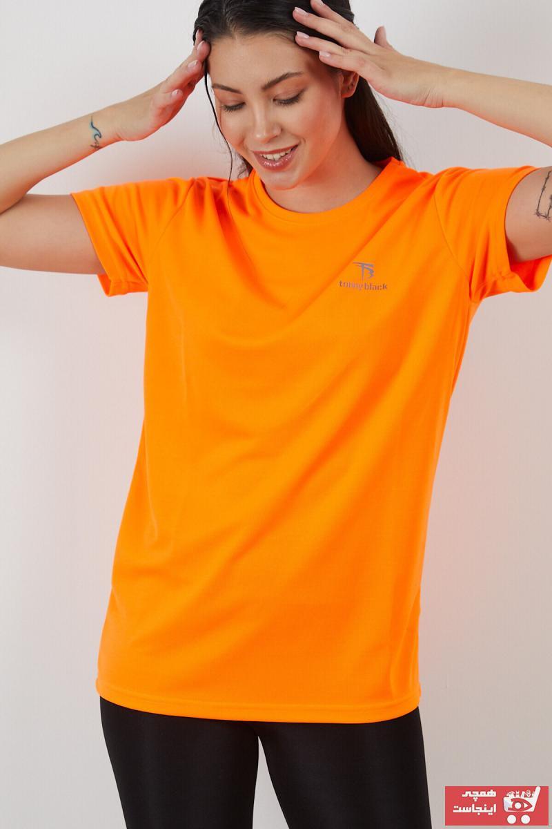 تیشرت شیک برند تونی بلک اورجینال رنگ نارنجی کد ty117132169