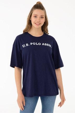 تیشرت طرح دار برند U.S. Polo Assn. رنگ لاجوردی کد ty128244183