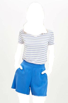 فروش پستی تیشرت زنانه ترک برند دفاکتو رنگ آبی کد ty38560830