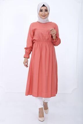 فروش پستی تونیک زنانه شیک جدید برند kombinal رنگ قرمز ty55386557