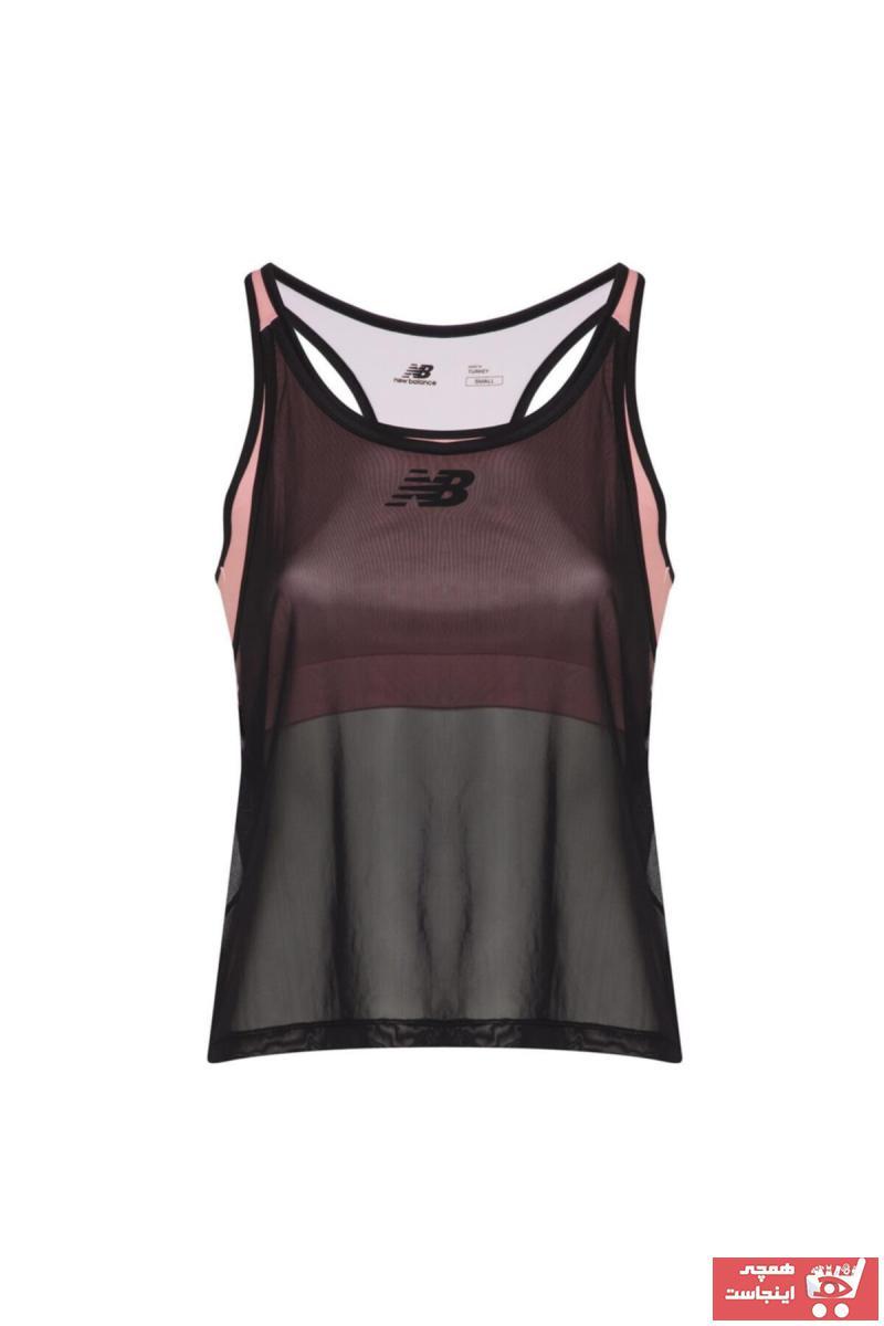 سفارش تیشرت ورزشی زنانه ارزان برند New Balance رنگ فیروزه ای ty84694012
