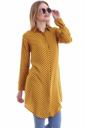 خرید تونیک زنانه ترک جدید برند göknur moda رنگ زرد ty89209785