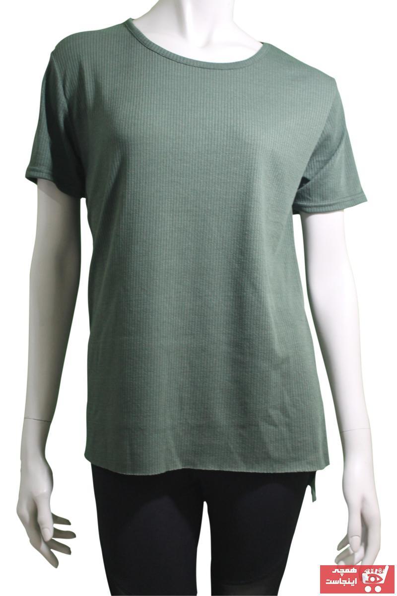 سفارش انلاین تیشرت ورزشی ساده برند Mina رنگ سبز کد ty90819686