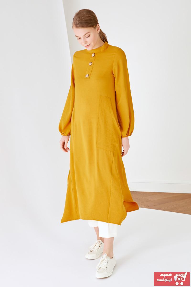 تونیک زنانه سال ۹۹ برند Trendyol Modest رنگ زرد ty97916185