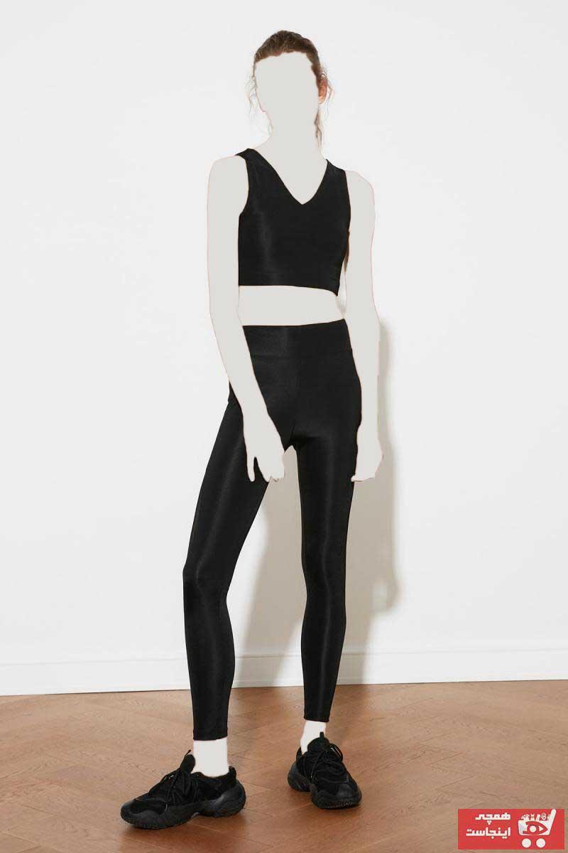 فروشگاه لگ ورزشی زنانه سال 1400 برند TRENDYOLMİLLA رنگ مشکی کد ty87544104