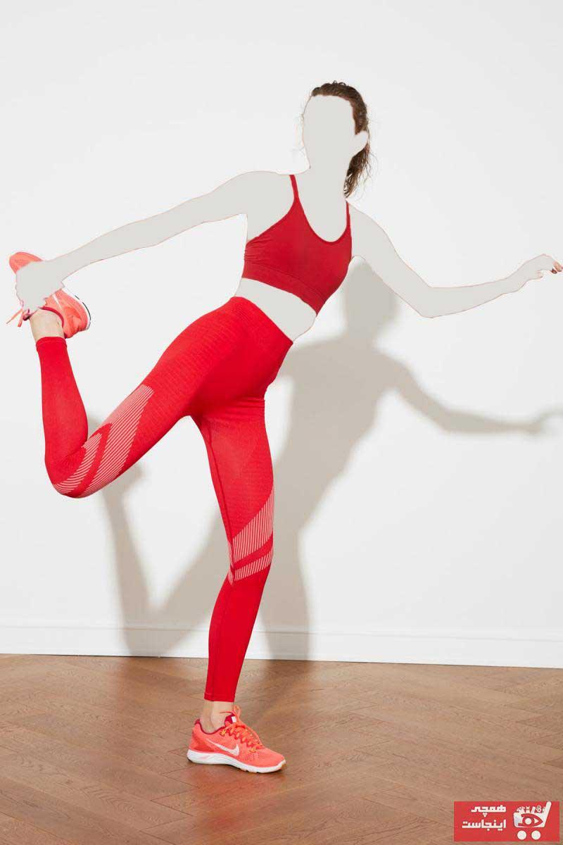 فروش لگ ورزشی زنانه نخی برند ترندیول میلا ترک رنگ قرمز ty88278646