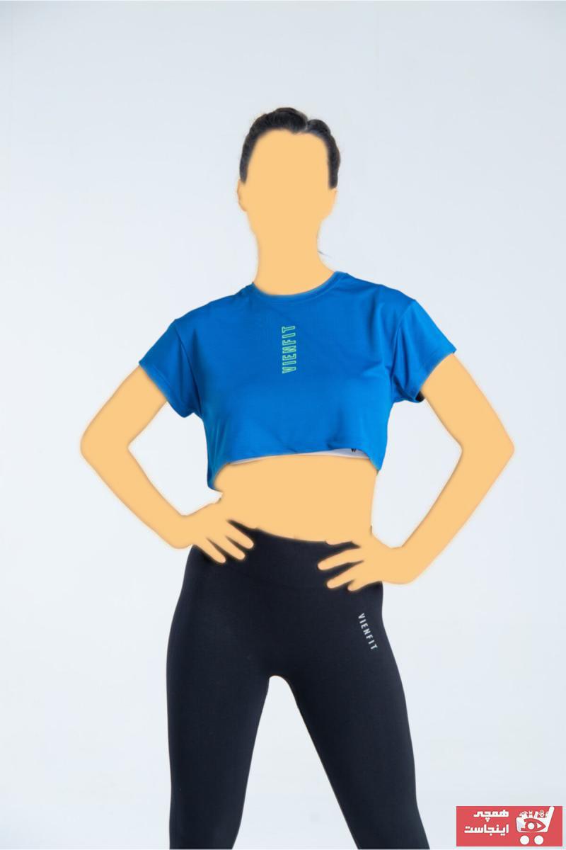 تیشرت ورزشی زنانه 2021 برند Vienfit رنگ آبی کد ty109654410