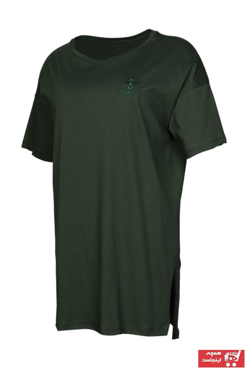 فروش انلاین تیشرت ورزشی زنانه برند هومل رنگ مشکی کد ty35109635