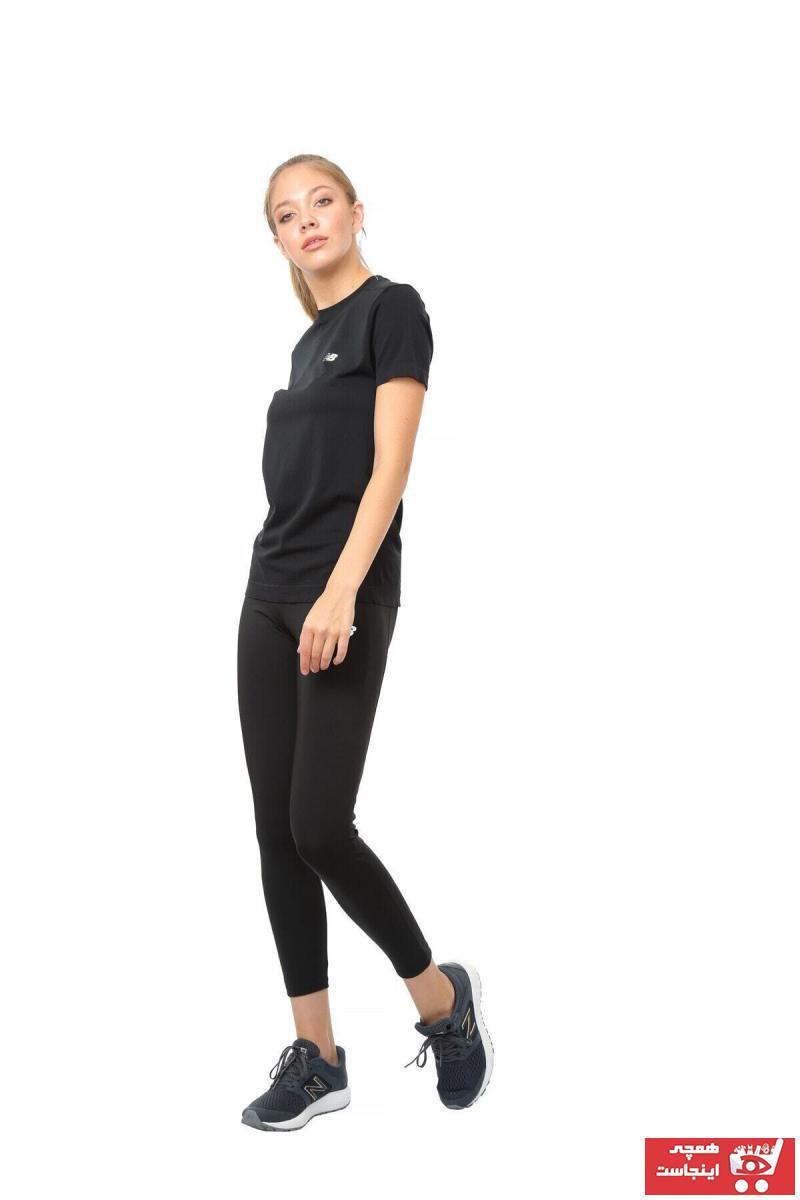 فروش تیشرت ورزشی زنانه جدید برند New Balance رنگ مشکی کد ty38350443