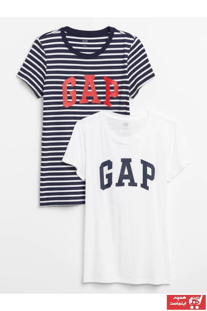فروش اینترنتی تیشرت زنانه با قیمت برند GAP رنگ لاجوردی کد ty41143266