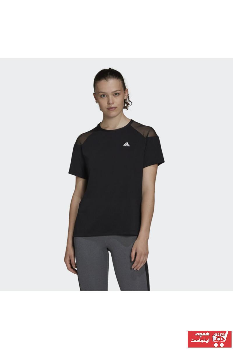 سفارش تیشرت ورزشی زنانه ارزان برند آدیداس رنگ مشکی کد ty47392075