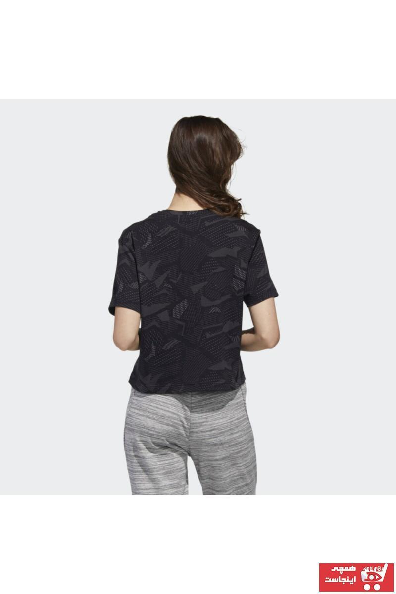 سفارش تیشرت ورزشی ارزان زنانه برند ادیداس رنگ مشکی کد ty76140095