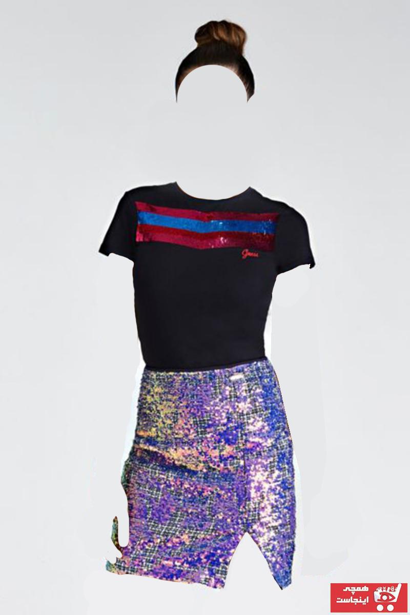 تیشرت زنانه برند Guess رنگ مشکی کد ty76588283