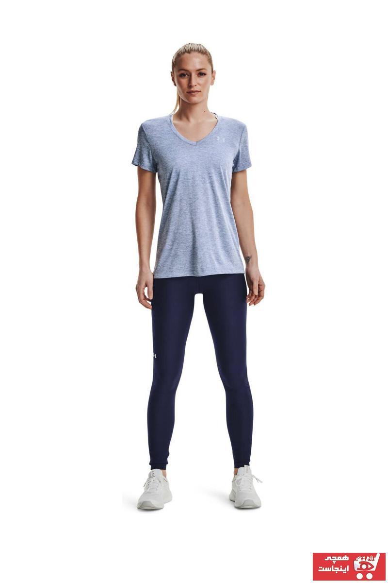 خرید مدل تیشرت ورزشی زنانه برند Under Armour رنگ آبی کد ty83723436