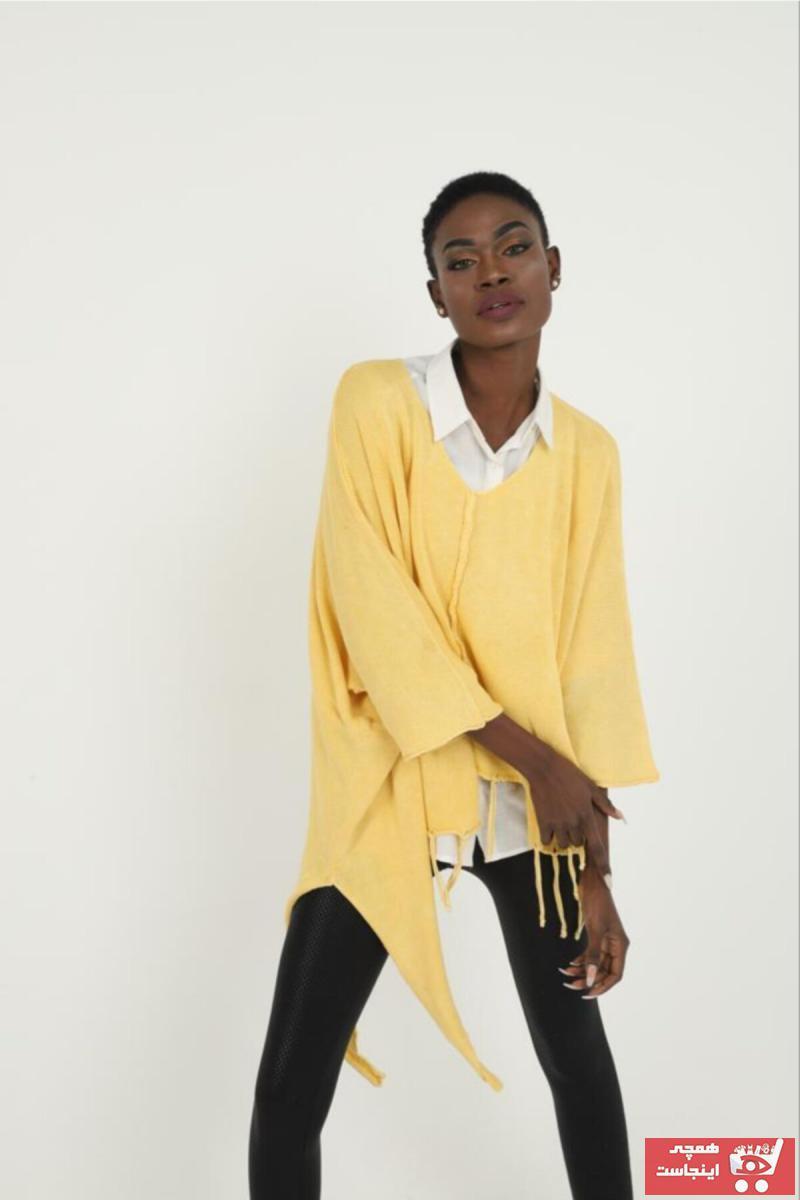 پلیور زنانه قیمت برند SCHS TEXTİL رنگ زرد ty103594279