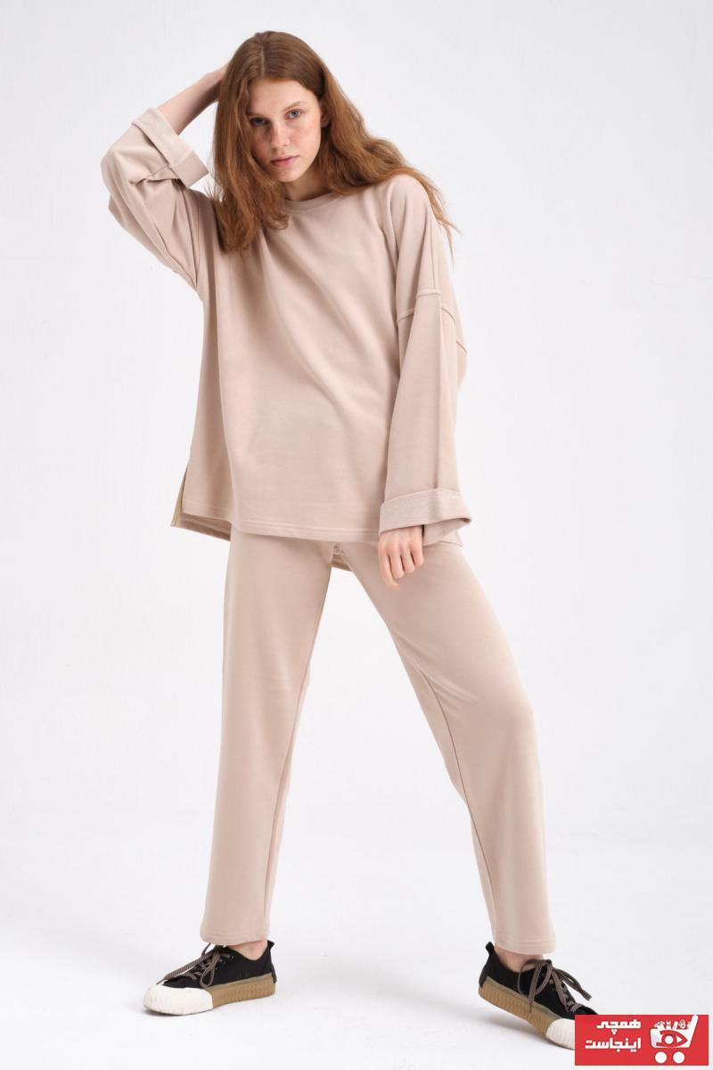 خرید ارزان ست ورزشی زنانه پیاده روی برند sofia clothes رنگ بژ کد ty104120127
