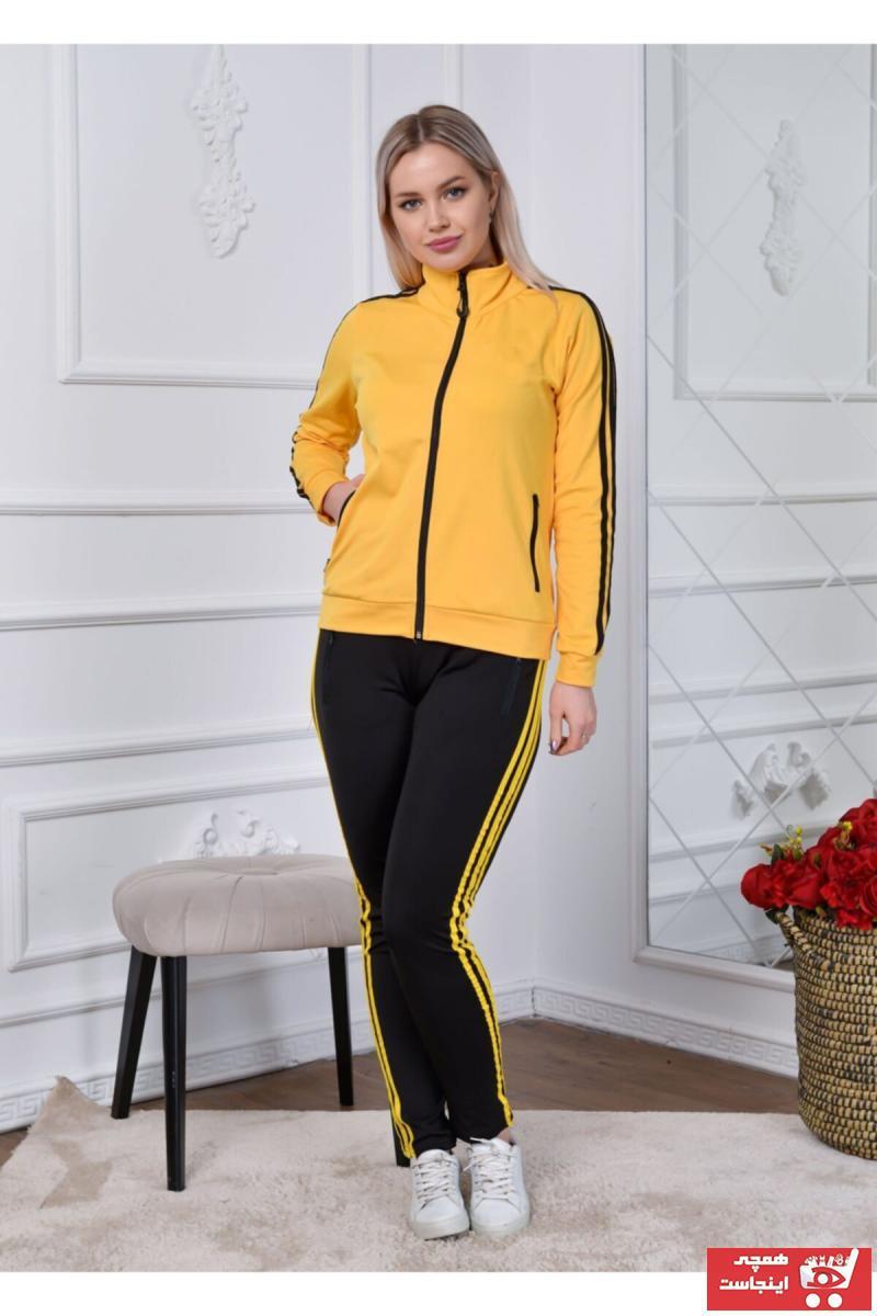 فروش ست ورزشی زنانه شیک و جدید برند RONZA MODA رنگ زرد ty106215514