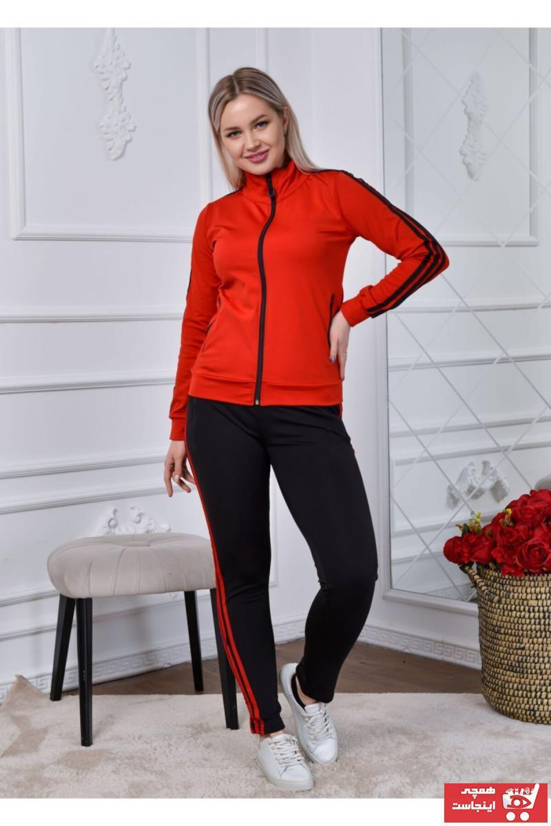 خرید مدل ست ورزشی زنانه برند RONZA MODA رنگ قرمز ty106935523