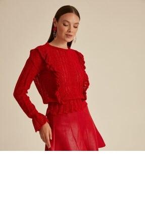 خرید انلاین پلیور زنانه طرح دار برند Mimoza رنگ قرمز ty117708156