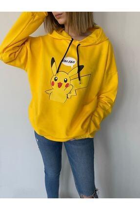 سفارش اینترنتی سویشرت فانتزی برند Black Sokak رنگ زرد ty119901846
