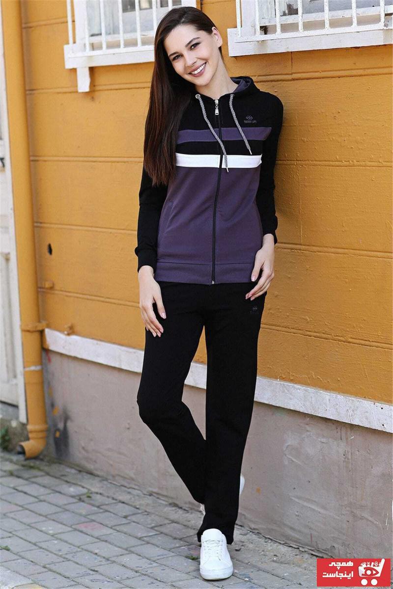 فروش پستی ست ست ورزشی زنانه مارک تامی لایف رنگ بنفش کد ty2899051