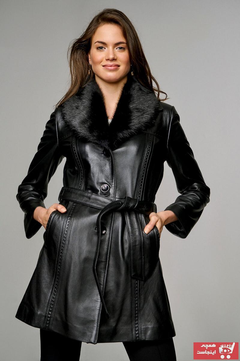 پالتو زنانه ارزان قیمت برند Derimod رنگ مشکی کد ty3097496