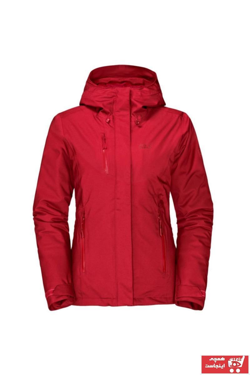 فروش اینترنتی کاپشن ورزشی زنانه با قیمت برند Jack Wolfskin رنگ قرمز ty32060295