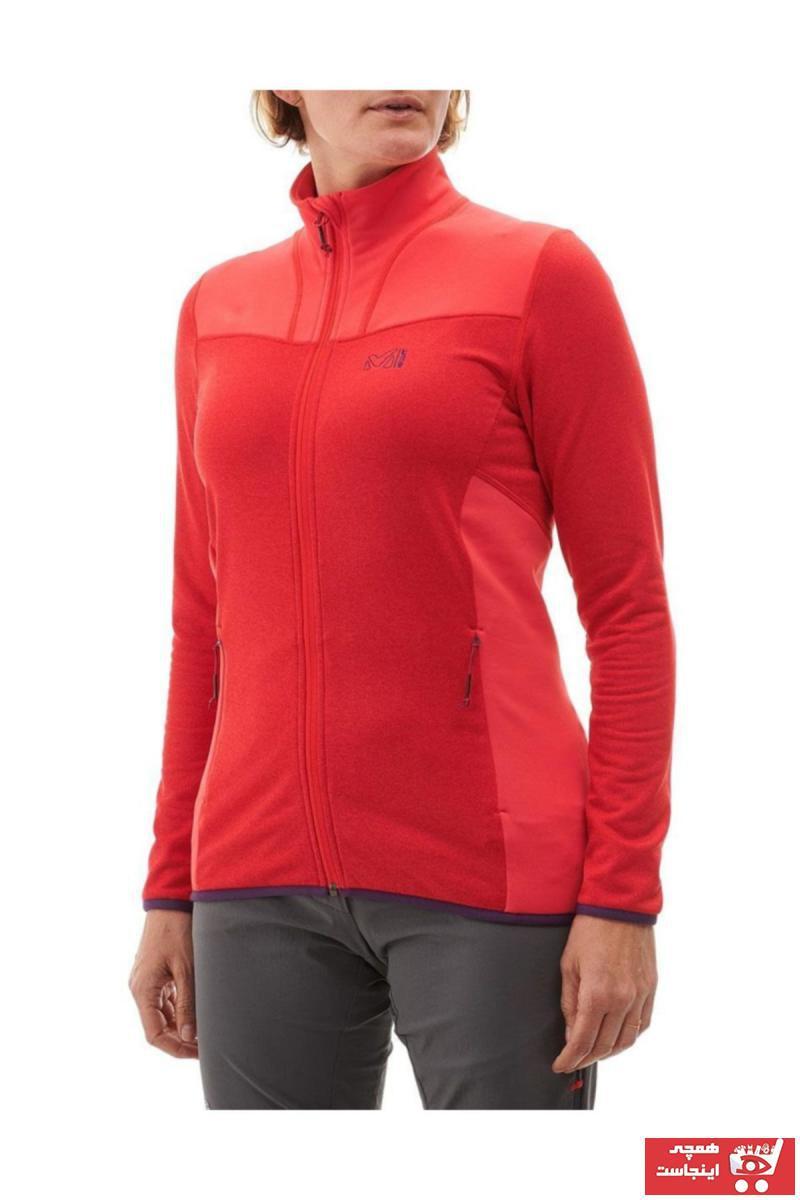 خرید انلاین کاپشن ورزشی زنانه طرح دار برند Millet رنگ قرمز ty34477421