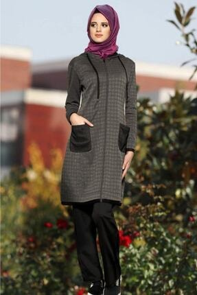 فروش سویشرت زنانه شیک و جدید برند GALLİPOLİ رنگ مشکی کد ty3449009