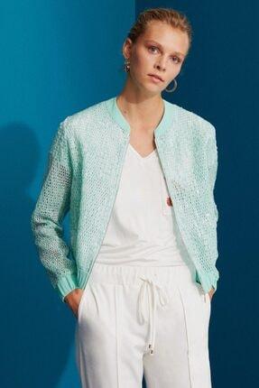 کاپشن زنانه فروشگاه اینترنتی برند Perspective رنگ فیروزه ای ty36373609