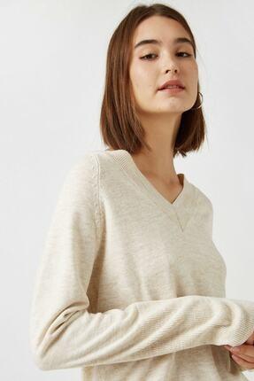 پلیور زنانه ارزان قیمت برند کوتون رنگ بژ کد ty49949622