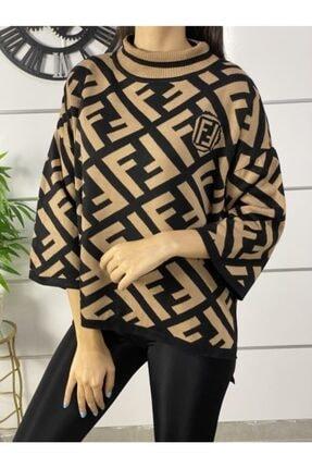 پلیور زنانه ترکیه برند ELBİSENN رنگ قهوه ای کد ty52578677