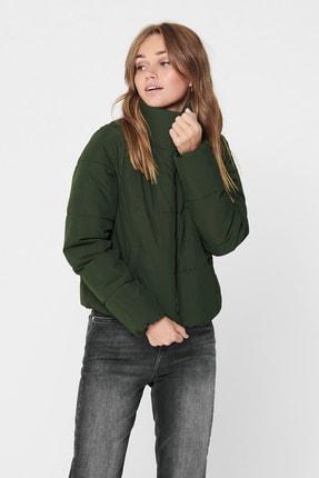 خرید پستی کاپشن زنانه پارچه نخی برند Only رنگ سبز کد ty52650574