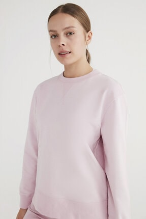 خرید انلاین سویشرت طرح دار برند Penti رنگ صورتی ty75761537