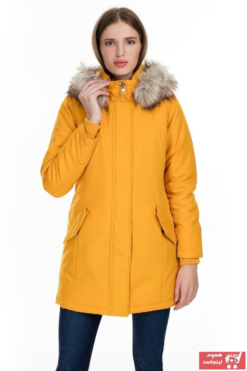 فروشگاه کاپشن ورزشی زنانه تابکاپشنانی برند Only رنگ زرد ty75823052