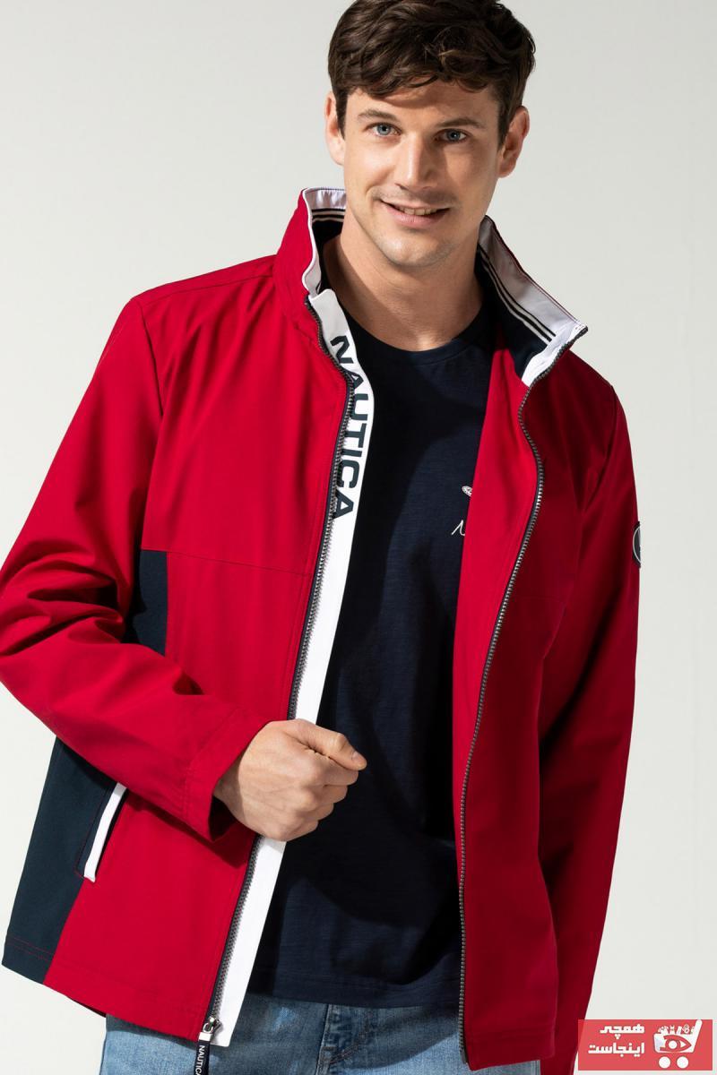 خرید بارانی 2020 زنانه برند Nautica رنگ قرمز ty101096288