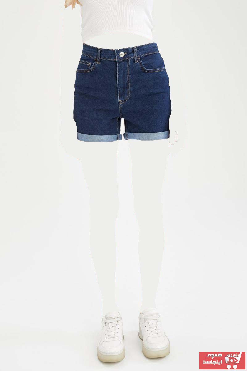 شلوار جین زنانه ترک جدید برند دفاکتو ترکیه رنگ آبی کد ty101197068