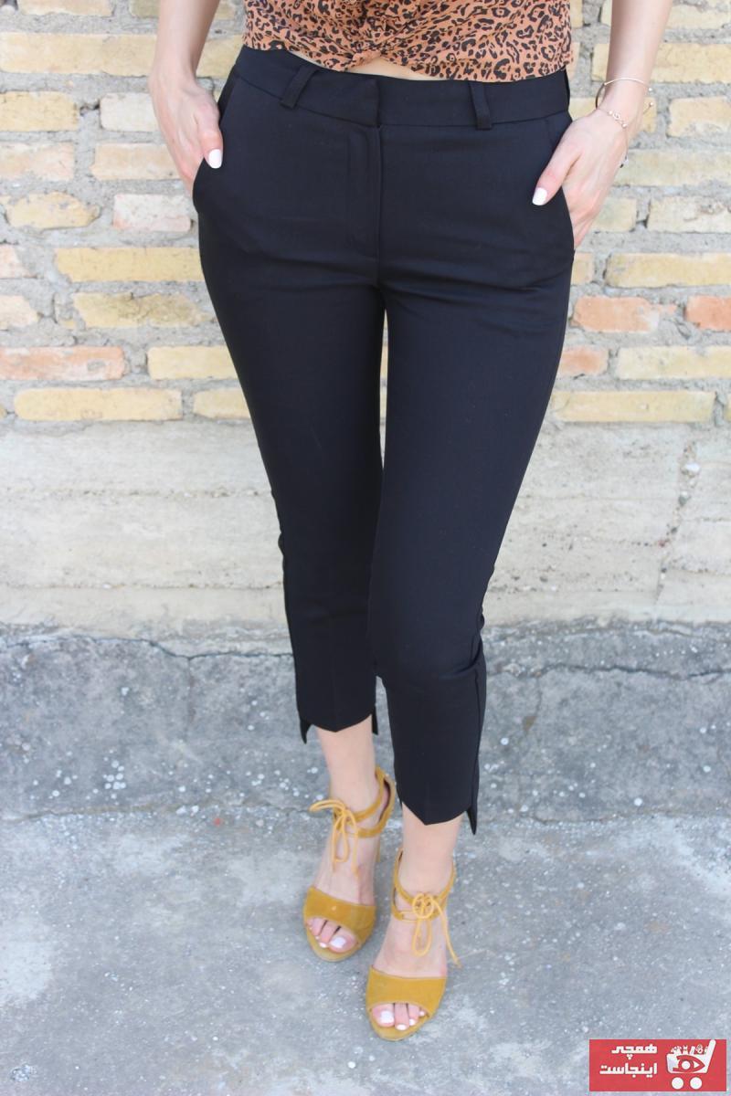 خرید اینترنتی شلوار شلوار زنانه برند CESS COLLECTİON رنگ مشکی کد ty101717440