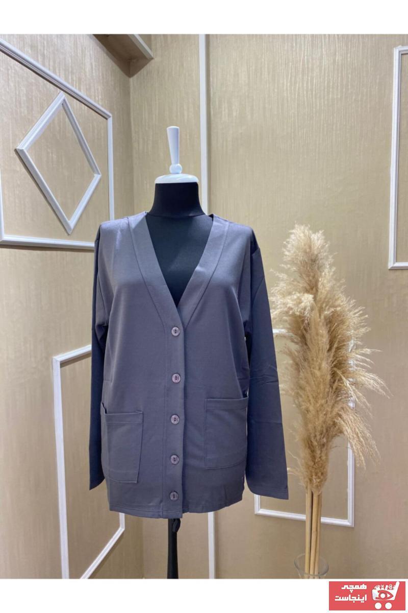 فروشگاه ژاکت بافتی زنانه سال ۹۹ برند MaviMoure رنگ نقره ای کد ty102817081