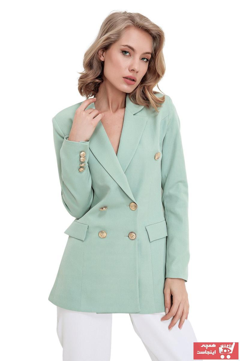 ژاکت زنانه برند butikburuç رنگ سبز کد ty104556840