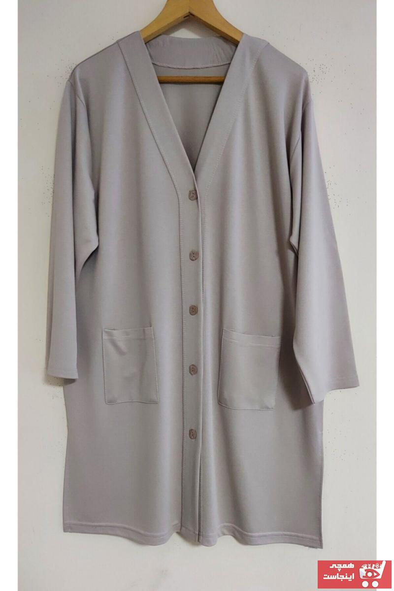 ژاکت بافتی زنانه ست برند NACAR STORE رنگ نقره ای کد ty104837330