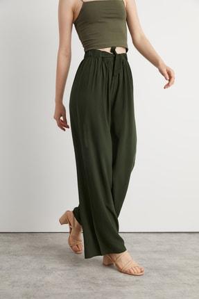 شلوار زیبا زنانه برند Bukamiss رنگ خاکی کد ty105630762