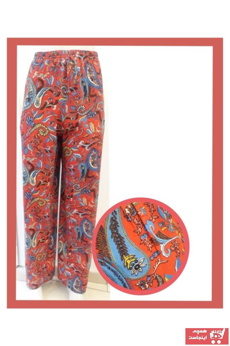 شلوار زنانه ارزان برند Damla Gül Giyim رنگ قرمز ty105847110